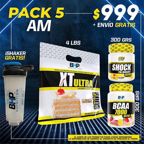 PACK 5 AUMENTO MUSCULAR