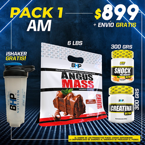 PACK 1 AUMENTO MUSCULAR