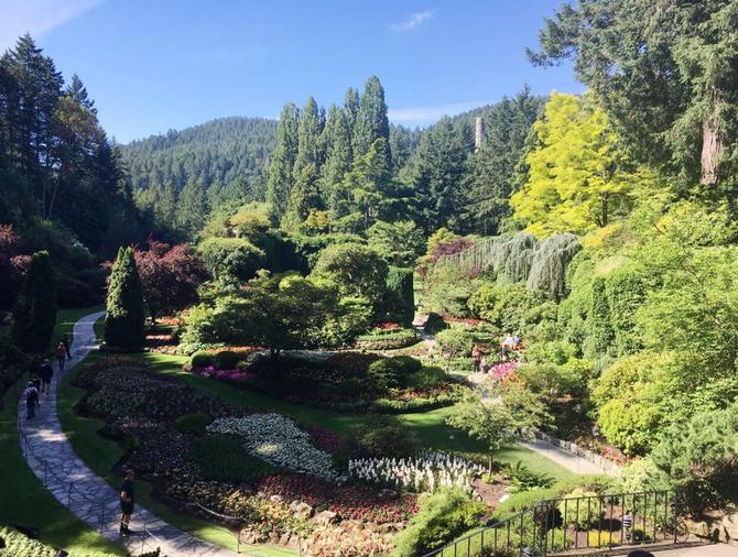 Les beaux jours à l'île de Vancouver