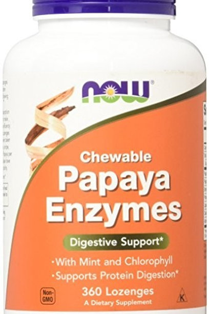 NOW Papaya Chewable Enzyme