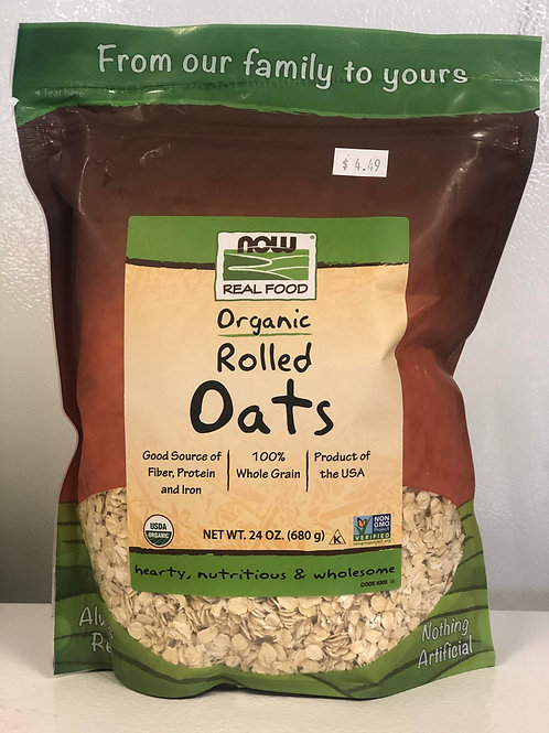 Now Organic Rolled Oats