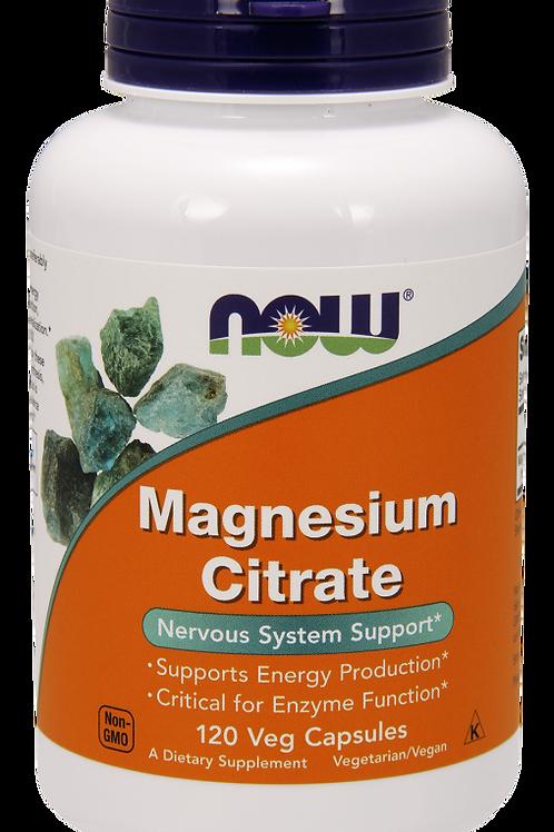 NOW Magnesium Citrate 120 Veg Capsules