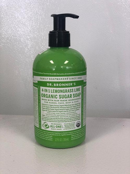 4 in 1 Lemongrass Lime Sugar Scrub