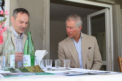 With Prince Charles on the terrace
