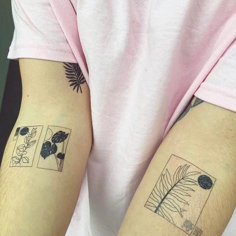 Temporary tattoos on skin