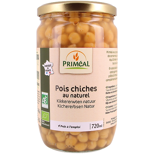 Pois chiches cuits - 720ml