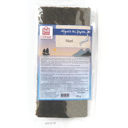 Nori - plaque sushi - 25g - 10 feuilles