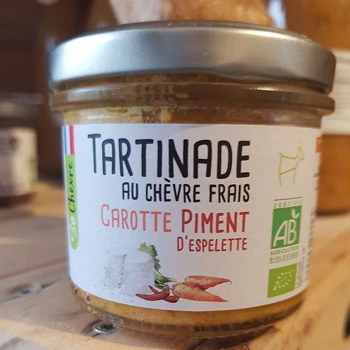 Tartinade au chèvre frais - Carotte et Piment d'Espelette - 90g