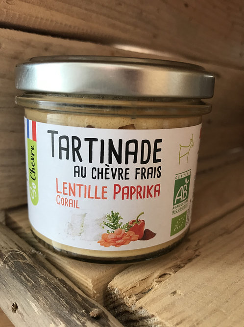 Tartinade au chèvre frais - Lentille et paprika - 90g