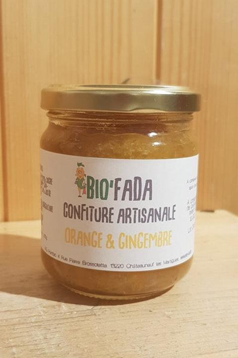 Confiture artisanale à l'orange & gingembre - 230g