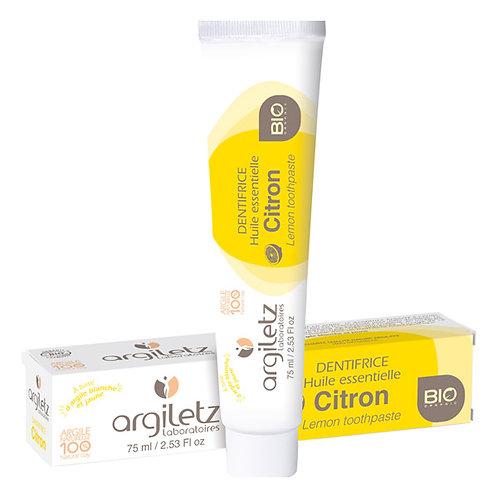 Dentifrice à l'argile blanche - Citron - 75ml