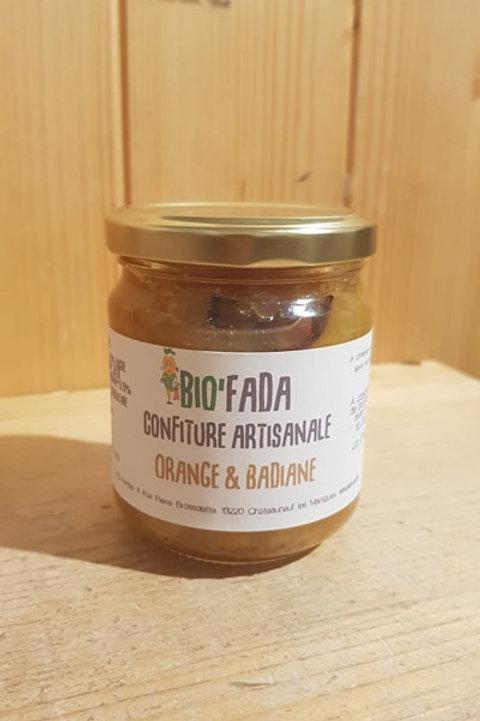 Confiture artisanale à l'orange & badiane - 230g