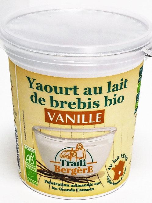 Yaourt au lait de brebis bio vanille - 400g