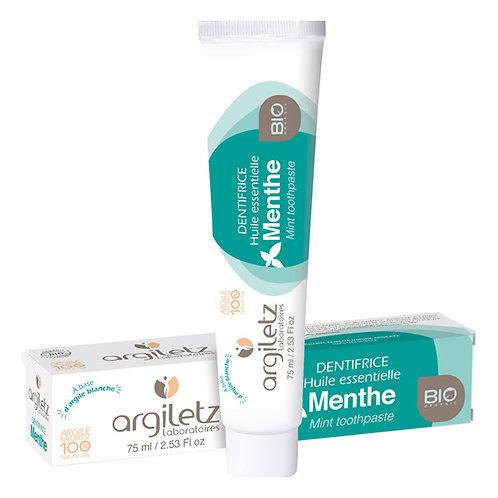 Dentifrice à l'argile blanche - Menthe - 75ml