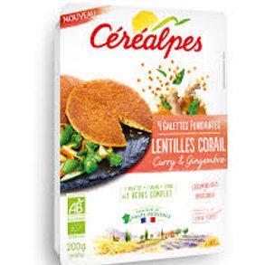 Galette de lentilles corail gingembre et curry - 4x50g