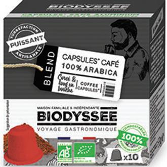 Café en capsule 100% arabica ''Puissant'' x10