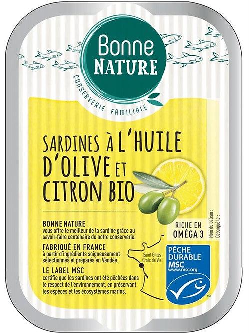 Sardine huile d'olive et citron - 115g