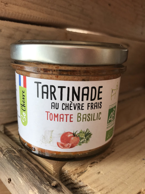 Tartinade au chèvre frais - Tomate Basilic - 90g
