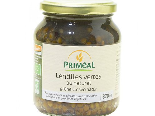 Lentilles vertes cuites - 370ml