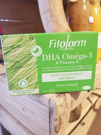 DHA Oméga 3 et Vit E - 60 capsules
