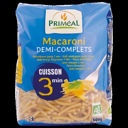 Macaroni semi complet - 500g - cuisson rapide