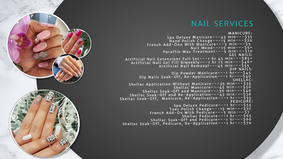 DGSalonPriceListNails - Made with Poster
