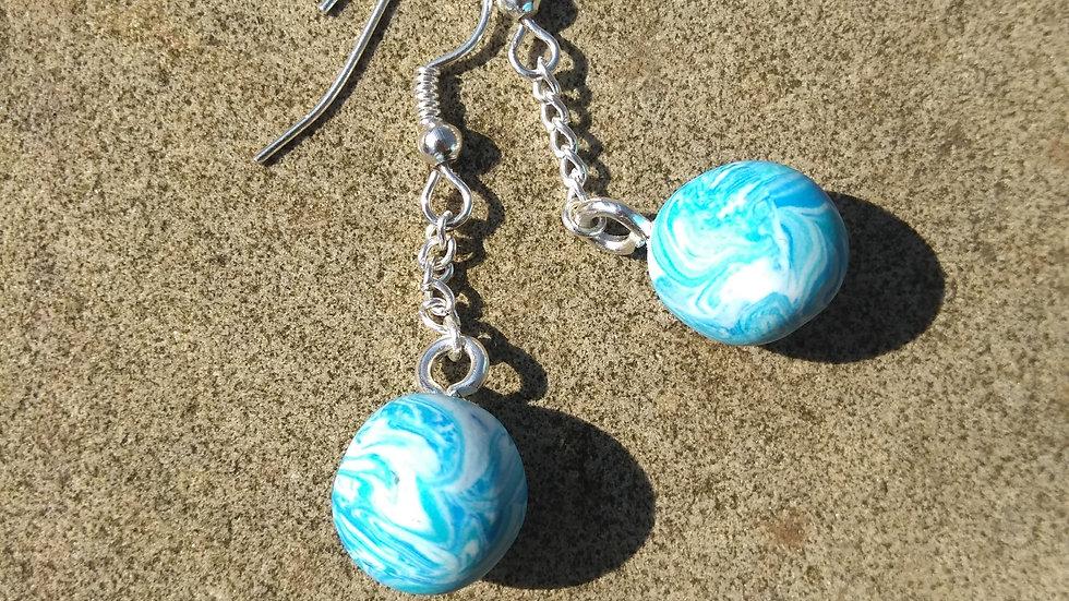 Ice Sphere Earrings