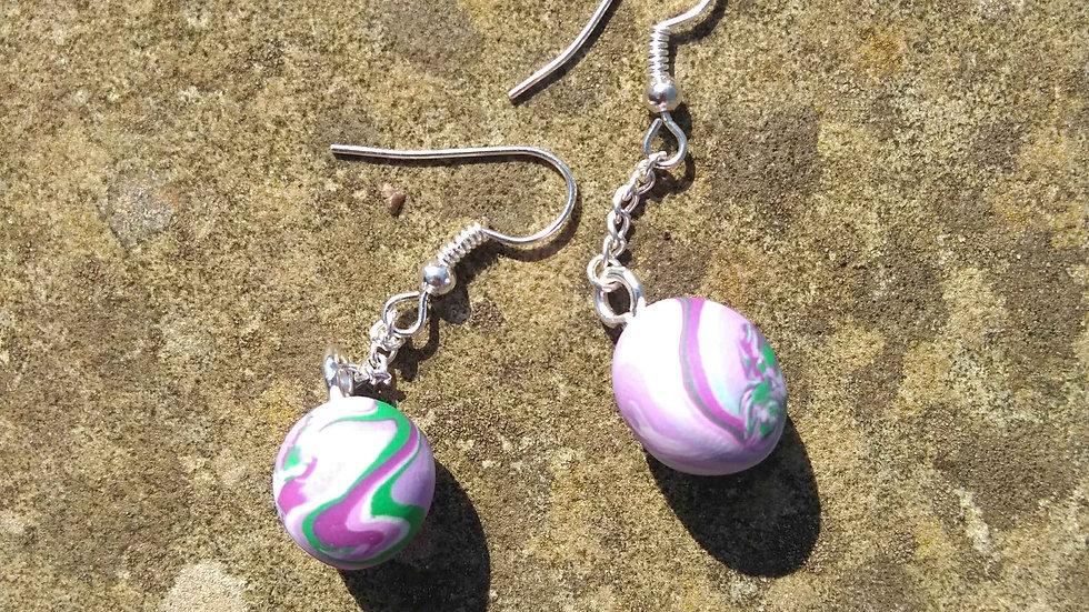 Orchid Sphere Earrings