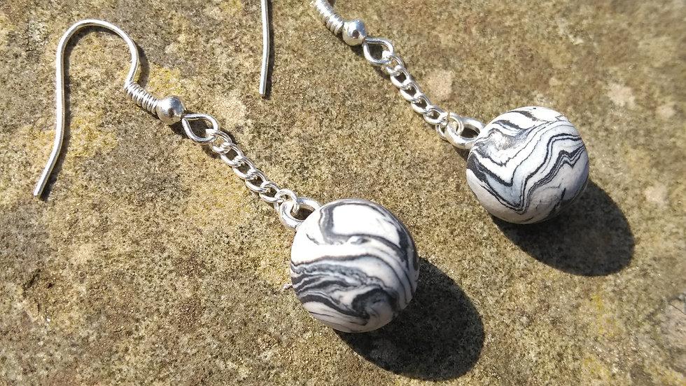 Charcoal Sphere Earrings