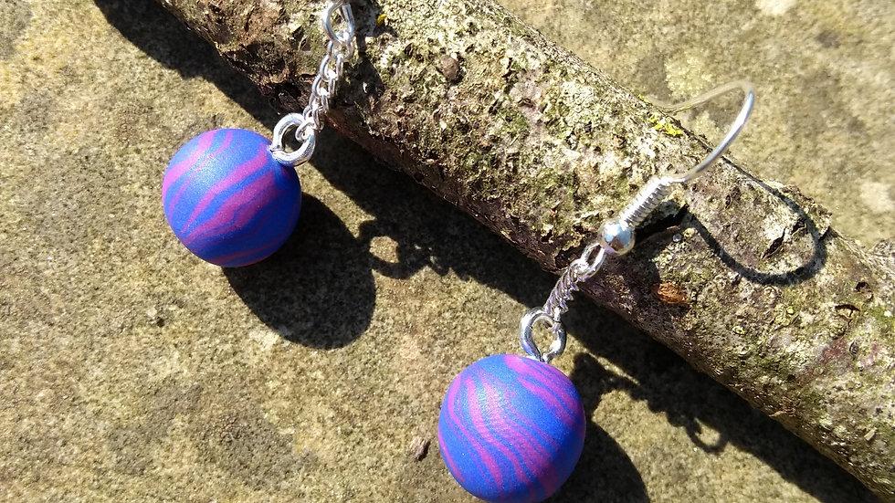 Blueberry Sphere Earrings