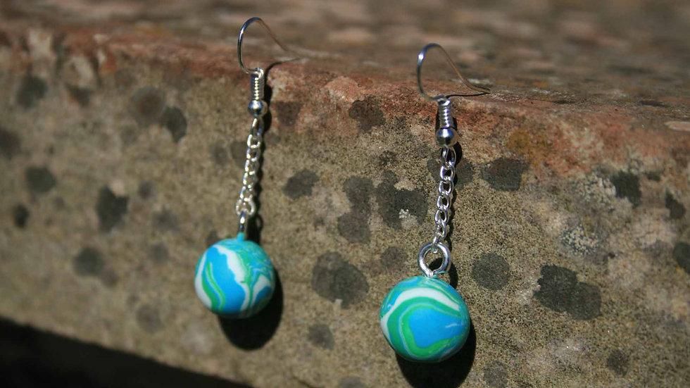 Seafoam Sphere Earrings