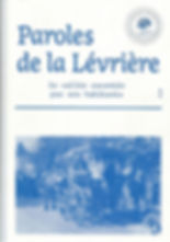 Paroles d la Lévrière - Couverture