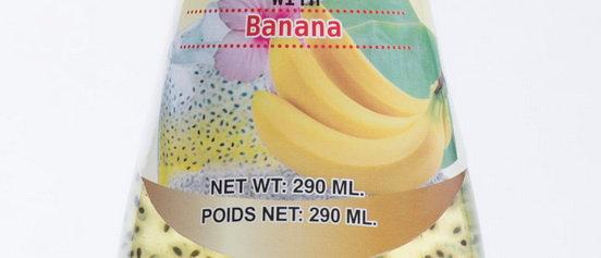 Basil Seed Drink with Banana