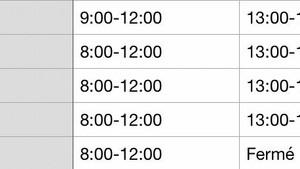 Timetable change