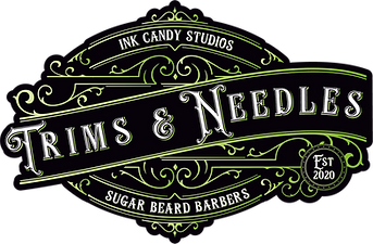 Trims and Needles Stickers Round Green.png