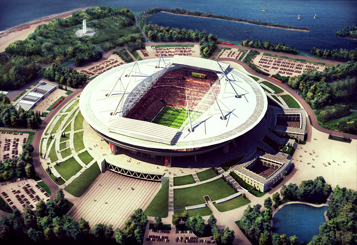 Stadium in St Petersburg