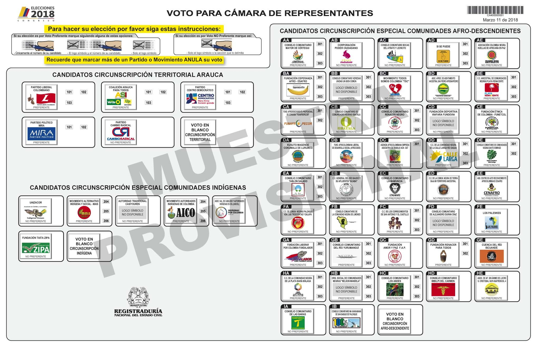 TARJETON-ELECTORAL-ARAUCA--DE-REPRESENTANTES-2018