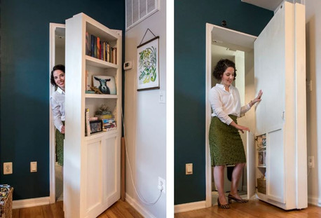 Concealed doorways are the latest trend in home design.