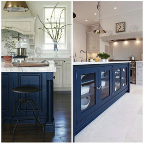 'NAVY IS THE NEW BLACK' IN KITCHEN AND BATHROOM DESIGN, PROS SAY