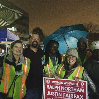 FYD Members helping at a Ralph Northam Event