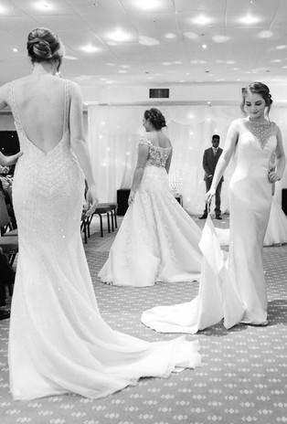 B&W bridal photo