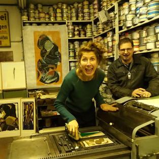 Drucken in der Papierwerkstatt Friedrichshagen