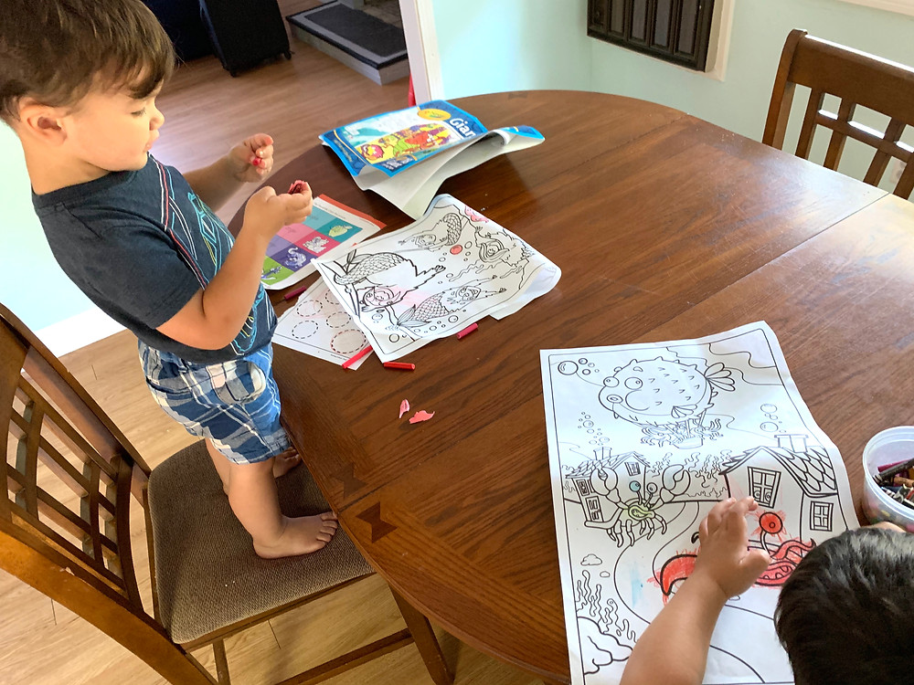 Preschool coloring and Letter Activity