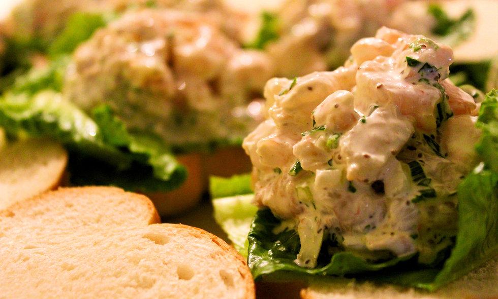 Shrimp Salad Croissant Sandwich