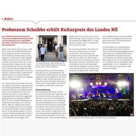 Proberaum-Bericht im Scheibbser »City Bote«