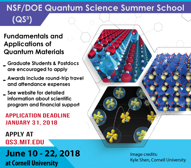 Quantum Science Summer School Poster