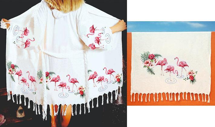 Peshtemal Bathrobe - Flamingo -