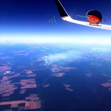 over the amazon forest