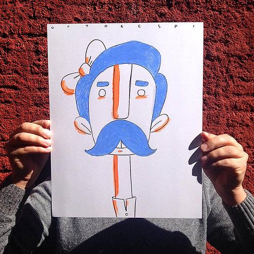 Inkhead moustache
