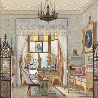 eduard petrovich hau . empress alexandra feodorovna's sitting room